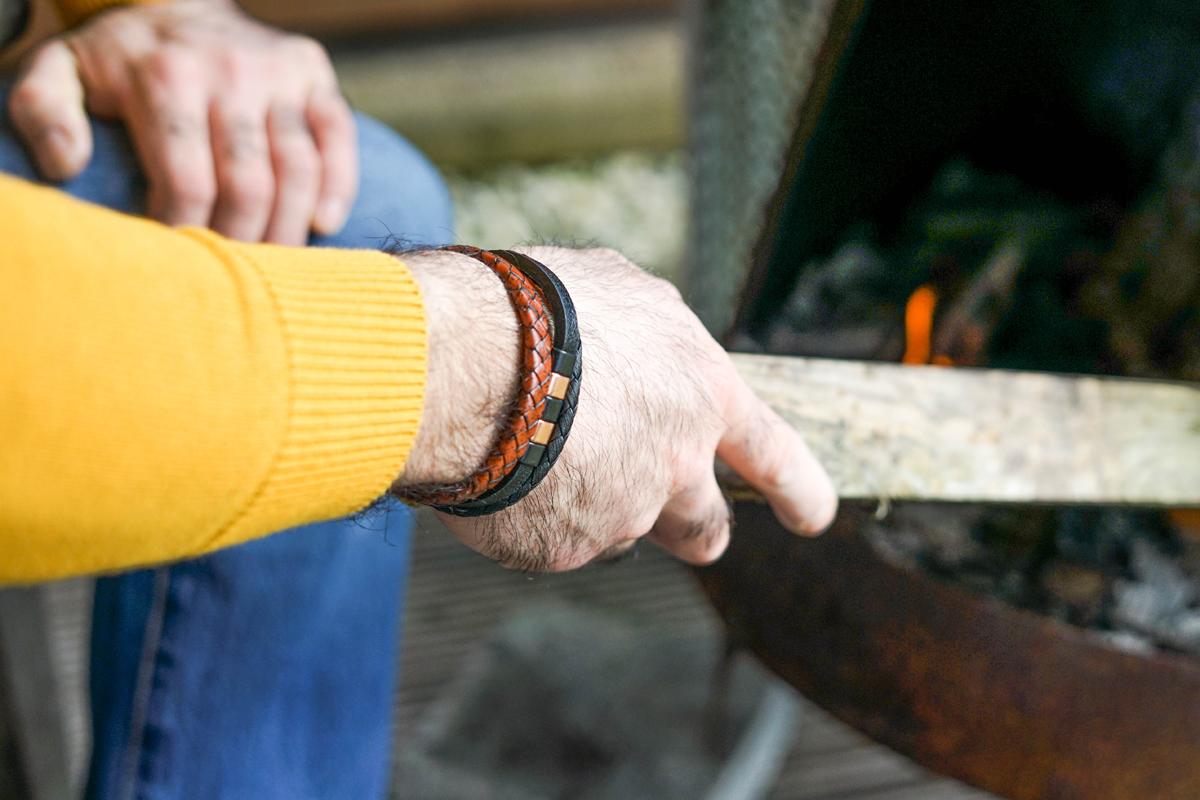 Hevi Handmade leren armbanden voor mannen